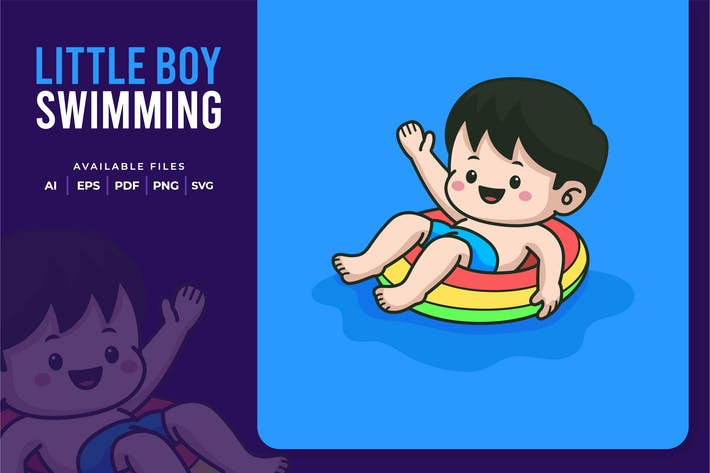 Thumbnail for Litte Boy Swimming