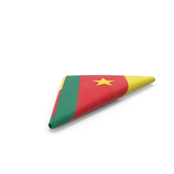 Flag Folded Triangle Cameroon