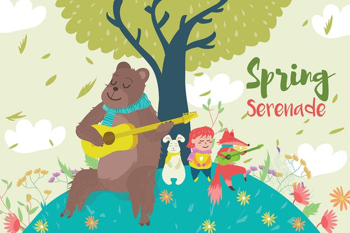 Cover Image For Spring Serenade - Vector Illustration