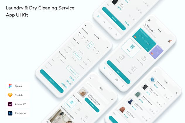 Laundry & Dry Cleaning Service App UI Kit