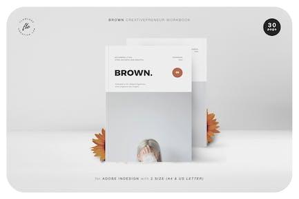 Brown Creativepreneur Arbeitsmappe