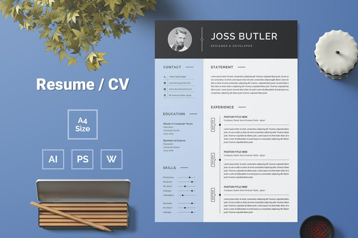 Thumbnail for Resume Template 77