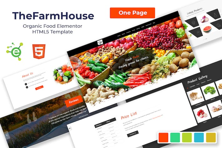 Thumbnail for TheFarmHouse - Organic Food HTML5 Template