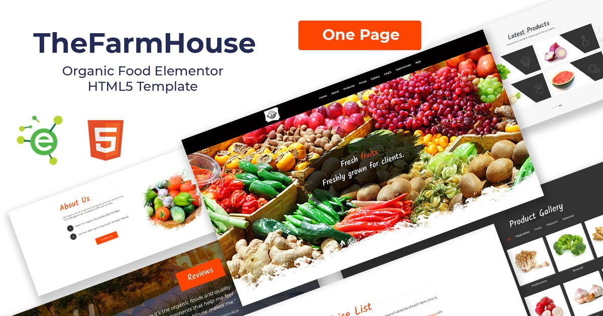 Download TheFarmHouse - Organic Food HTML5 Template by envalab