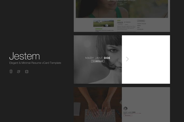 Thumbnail for Jestem - Elegant & Minimal Resume vCard Template