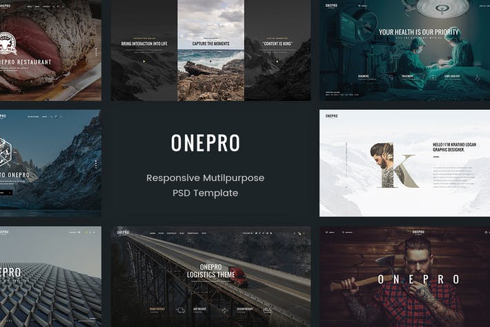 Thumbnail for OnePro - Creative Multipurpose PSD Template