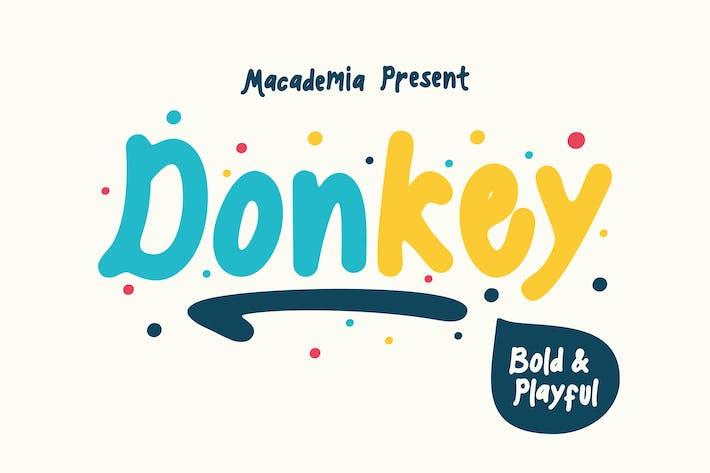 Thumbnail for Donkey  - Playful Font
