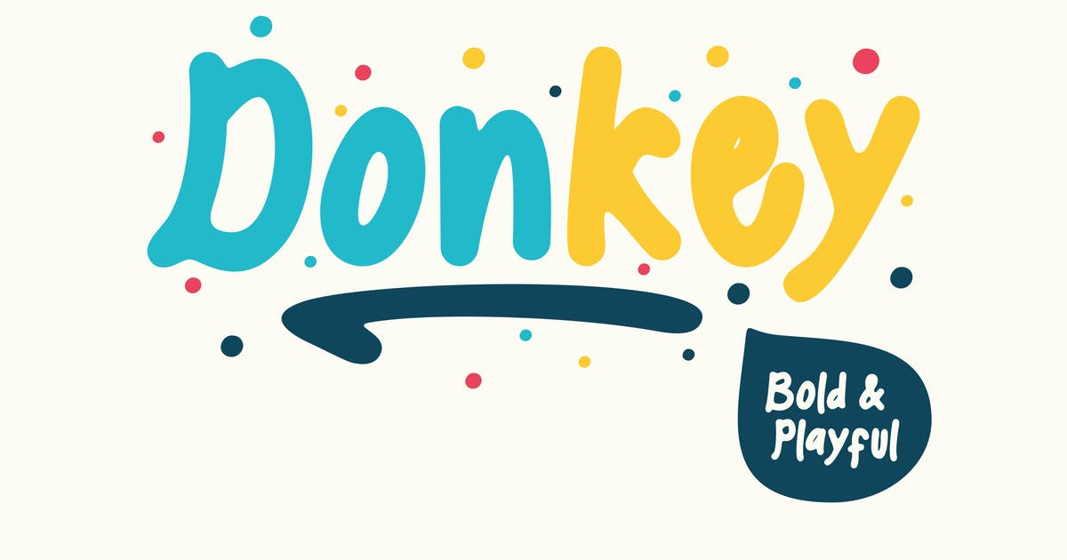 Download Donkey  - Playful Font by Macademia