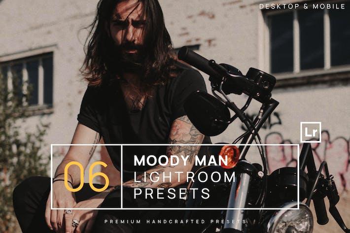 Thumbnail for 6 Moody Man Portrait Lightroom Presets + Mobile
