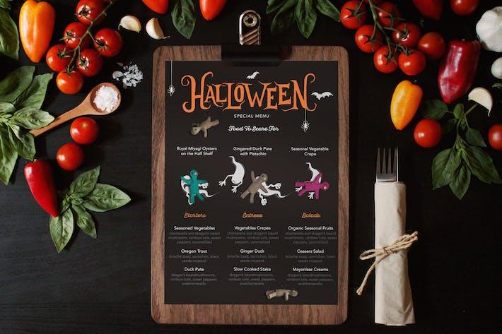 Thumbnail for Halloween Special Menu Card