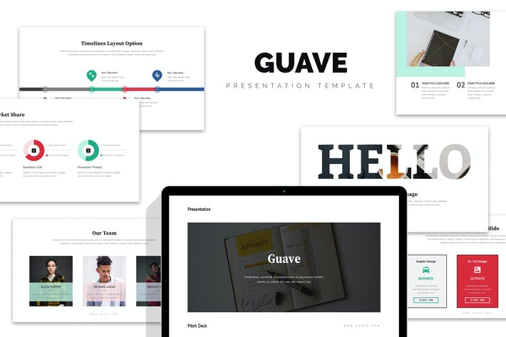 Thumbnail for Guave : Digital Company Pitch Deck Google Slides