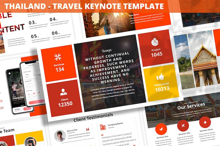 Thumbnail for Thailand - Travel Keynote Template