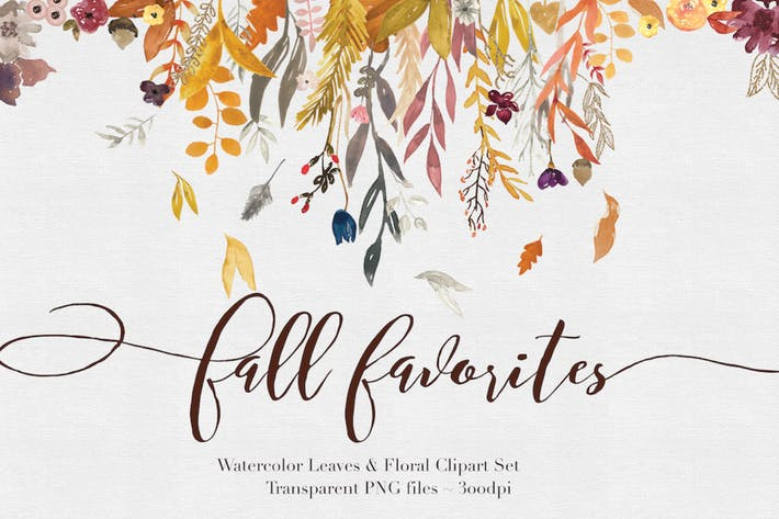 Thumbnail for Fall Watercolor Clipart