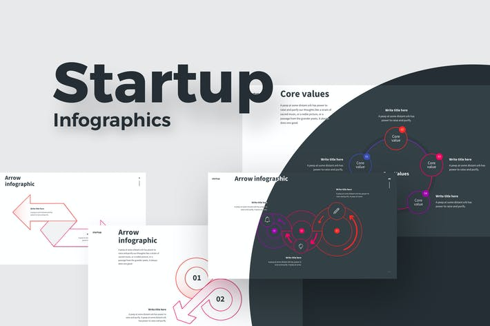 Cover Image For STARTUP Infographic Keynote