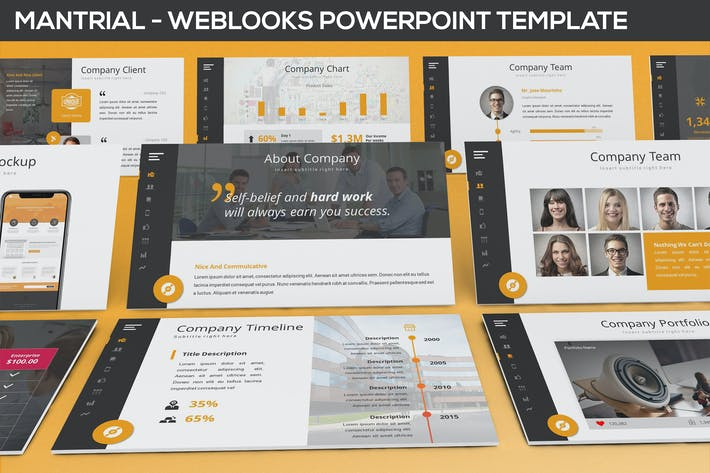 Thumbnail for Mantrial - Weblooks Powerpoint Template