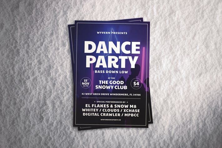 Cover Image For Dance Party Flyer