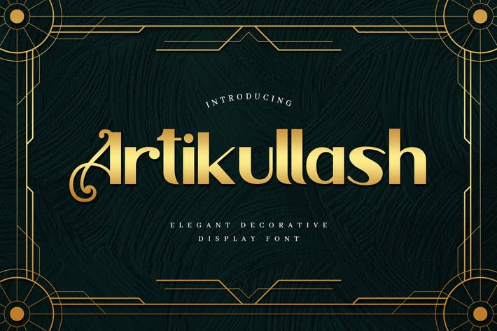Thumbnail for Artikullash - Elegant Art Deco Tipo de letra