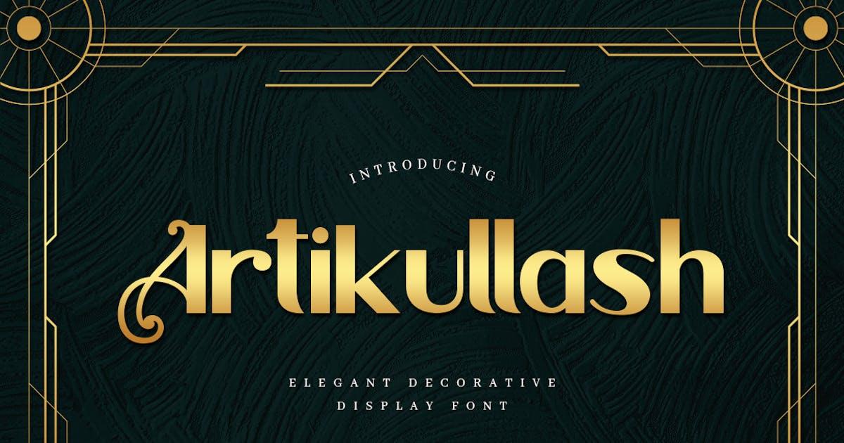Download Artikullash - Elegant Art Deco Typeface by naulicrea