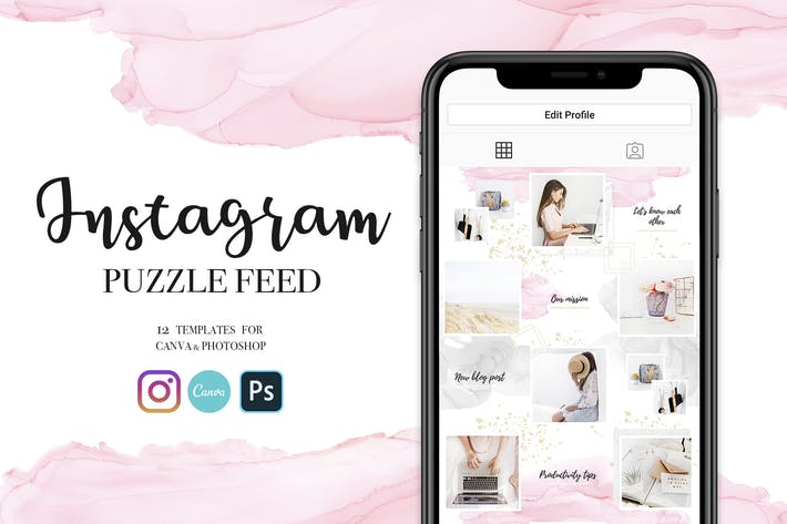Thumbnail for Instagram Feed Puzzle-Vorlage