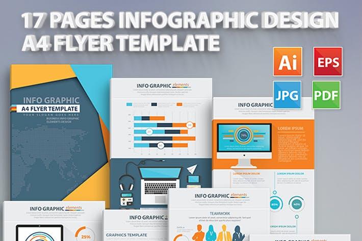 Thumbnail for Информация Графические элементы Дизайн 17 Страниц