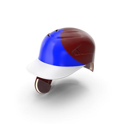 Casco de béisbol C solapa Rojo Azul Triángulo
