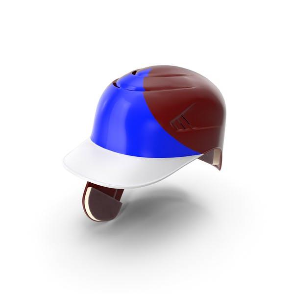 Baseball Helmet C flap Red Blue Triangle
