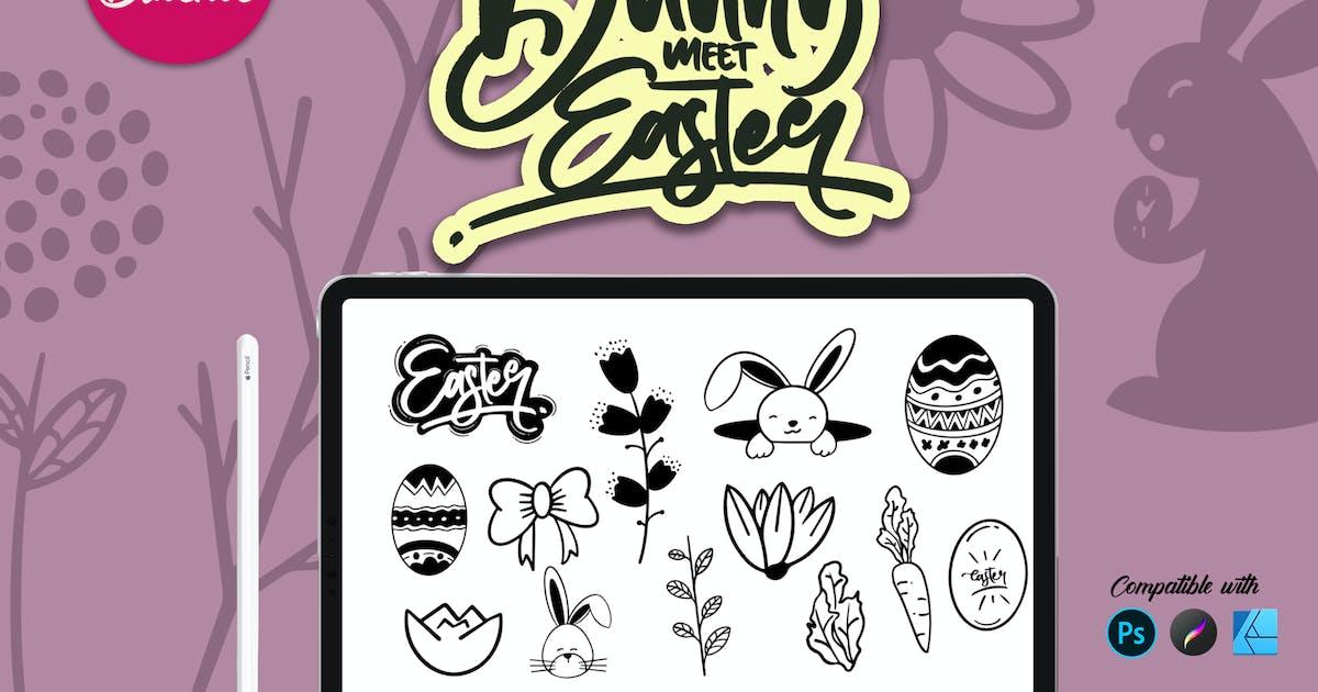 Download Bunny Easter   Stamp brush by LetterStockStd