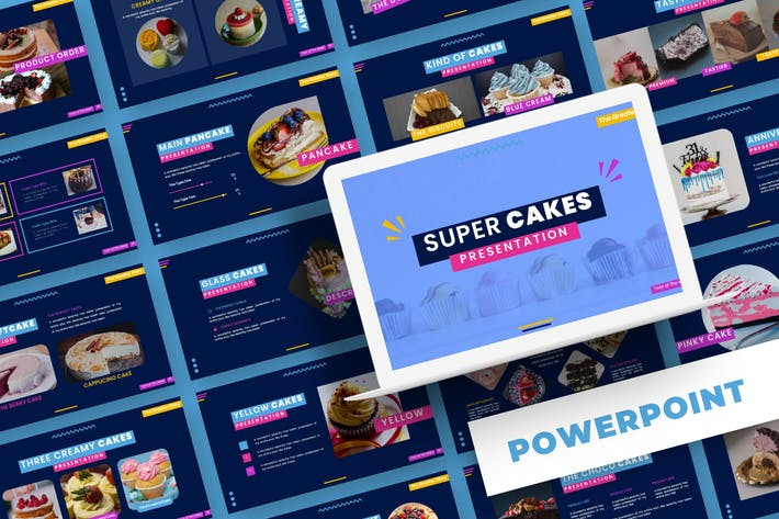 Thumbnail for Super Cakes - Powerpoint Template