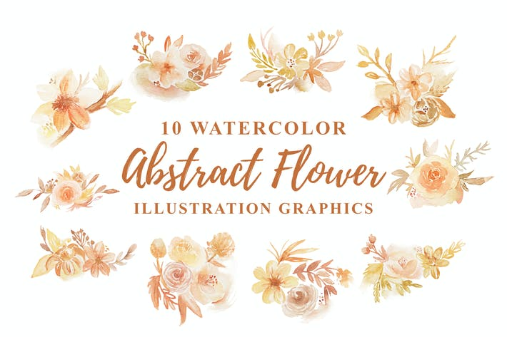 Thumbnail for 10 Watercolor Abstract Floral Illustration
