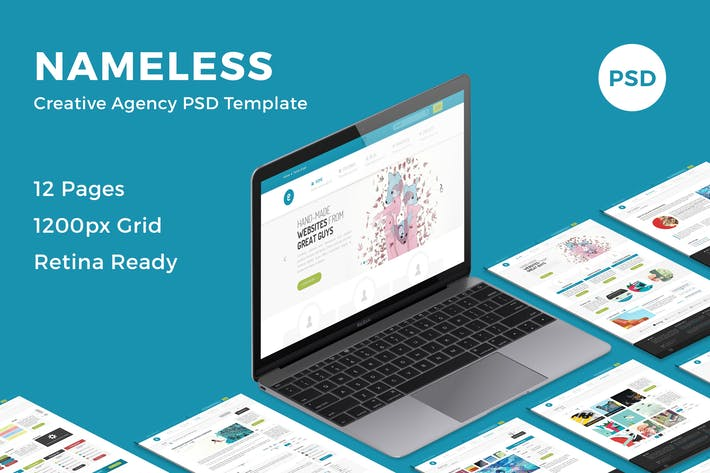 Thumbnail for Nameless - Creative Agency PSD Template