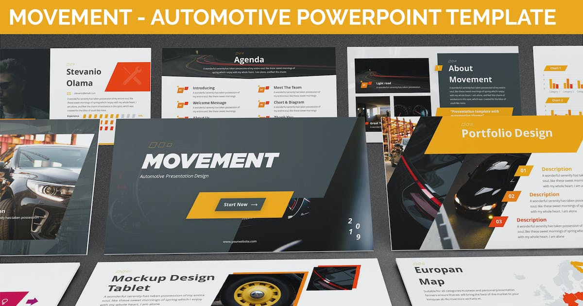 Download Movement - Automotive Powerpoint Template by SlideFactory