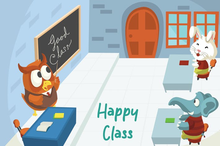 Thumbnail for Happy Class - Vector Illustration