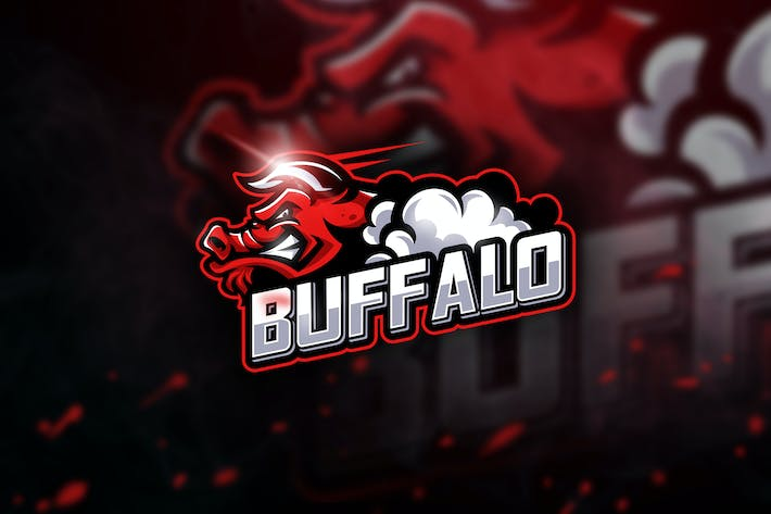 Thumbnail for Buffalo - Mascot & Esport Logo