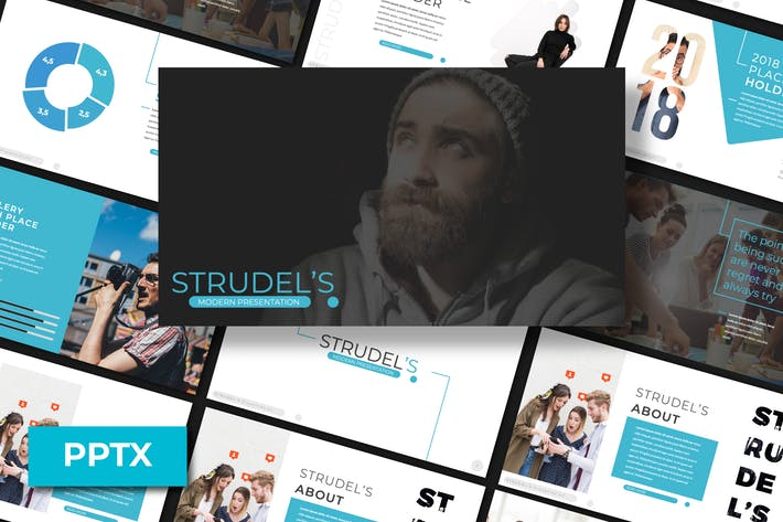 Thumbnail for Strudel's Powerpoint Template