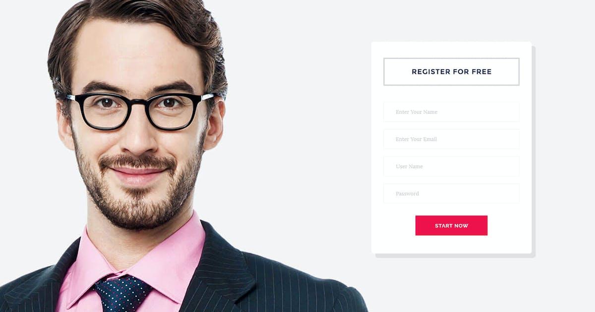 finance Landing Page Psd Template by DesignsVilla