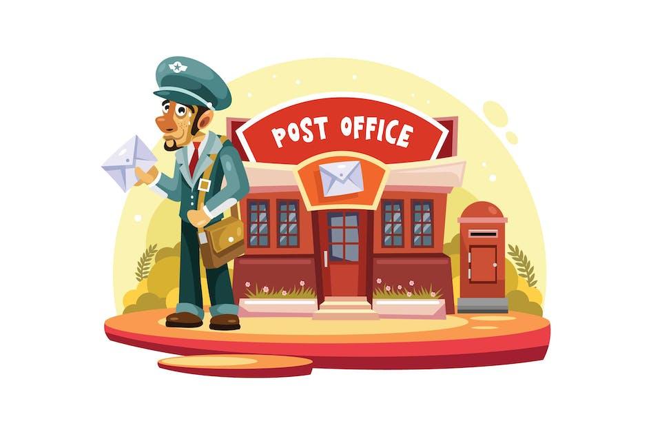 Download Postman Vector Illustration by IanMikraz