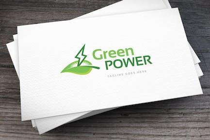 Green Power Logo Template