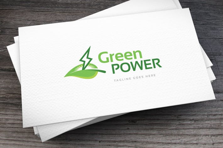 Green Power Logo Template