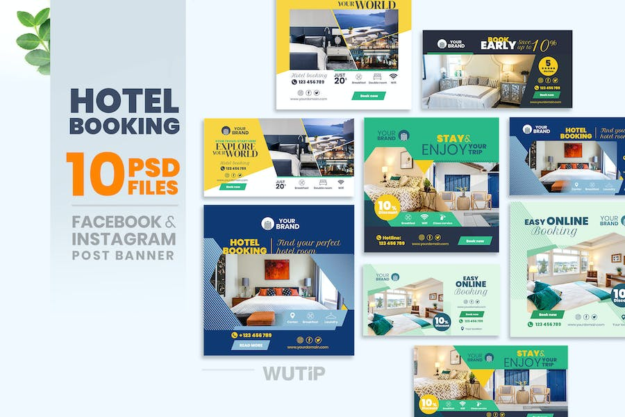 10 Social Media Banners - Hotel Booking