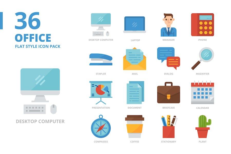 Büro Flat Style Icon Set