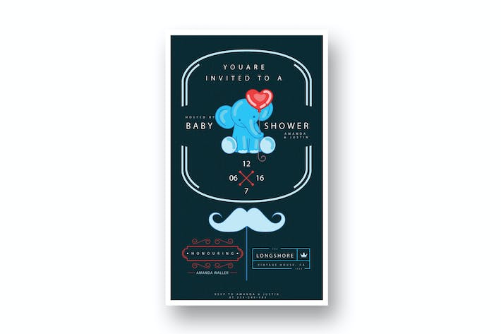 Thumbnail for DIY Modern Baby Shower Invitation