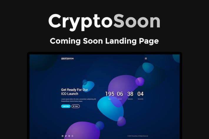 Thumbnail for CryptoSoon - Coming Soon Template