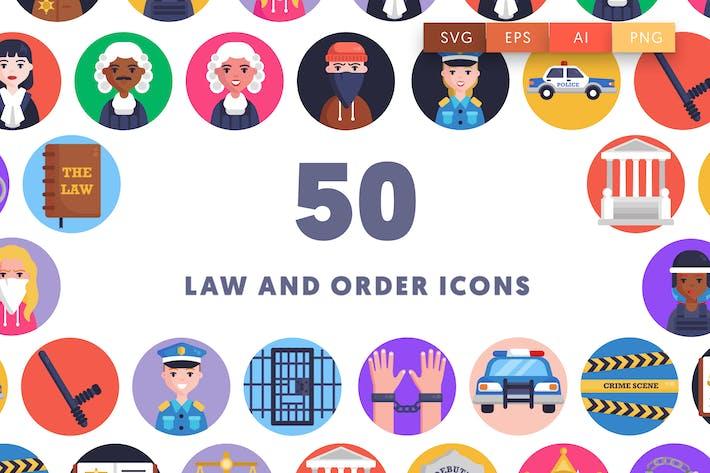 50 Icons für Recht und Ordnung