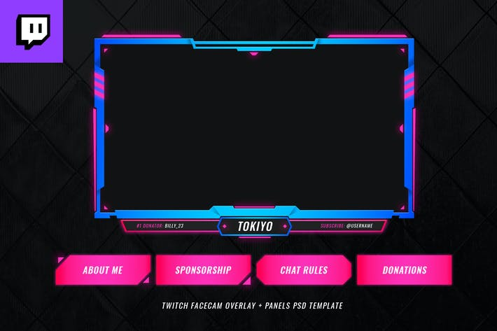 Thumbnail for Twitch Facecam Overlay V7