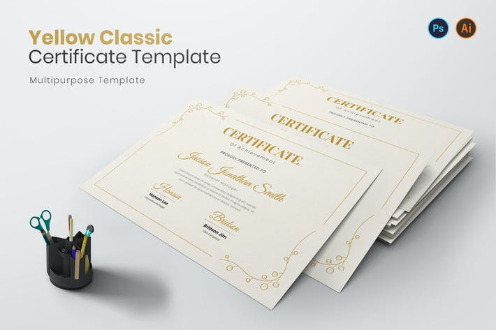 Thumbnail for Yellow Classic Certificate