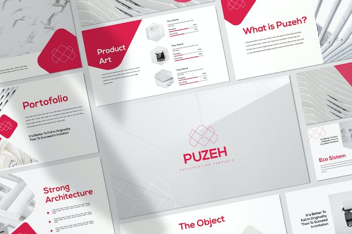 Thumbnail for Puzeh - Minimal Business Keynote