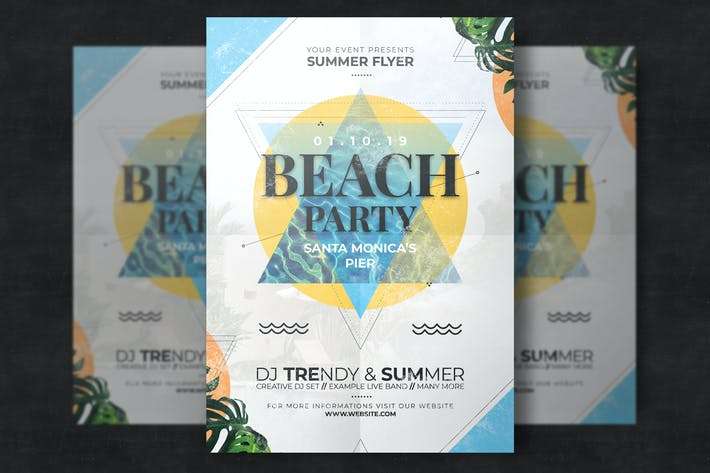 Thumbnail for Beach Party Flyer Template