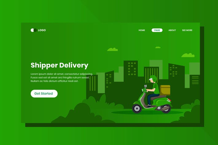 Thumbnail for Shipper Delivery Isometric Banner Template