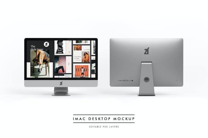 Thumbnail for iMac desktop mockup and scene generator