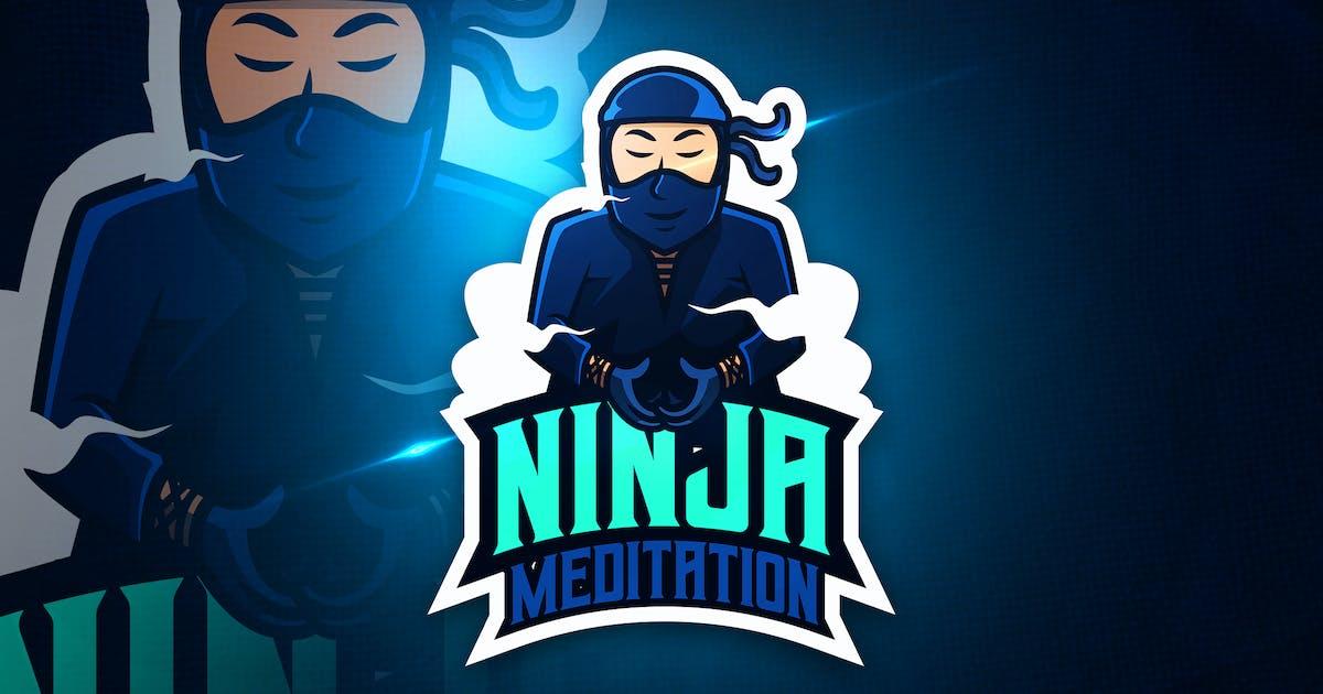 Download Ninja Meditation - Mascot & Esport Logo by aqrstudio